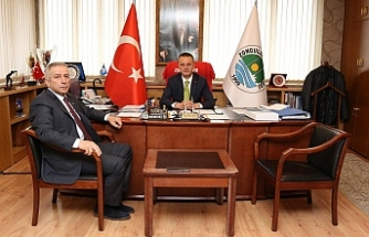 Muharrem Coşkun'dan Başkan Alan'a ziyaret