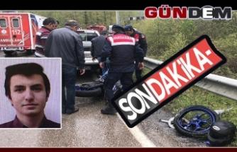 Üniversite öğrencisi motosiklet kazasında hayatını kaybetti!..