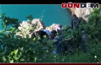 Balık tutarken kayalıklardan düşüp yaralandı