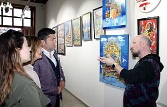 """Gelenekten Moderne"" resim sergisi"