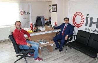 Milletvekili Güneş'ten, İHA Bölge Müdürü Erdem'e ziyaret