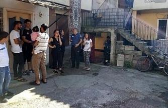 Yabancı uyruklu ailenin kaldığı evde yangın çıktı