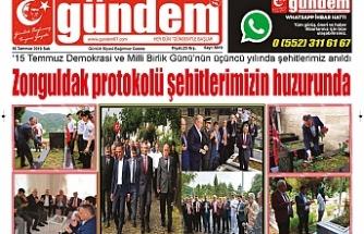 16 TEMMUZ 2019 SALI GÜNDEM GAZETESİ