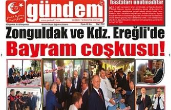 15 AĞUSTOS 2019 PERŞEMBE GÜNDEM GAZETESİ