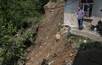 Kozlu'da kuvvetli yağış sonrası heyelan