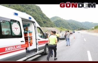Panelvan araç takla attı: 1 yaralı