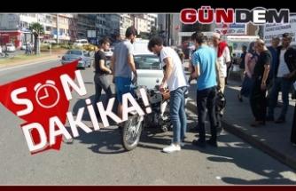 Direksiyon Hakimiyetini Kaybeden Motosiklet Sürücüsü Yaralandı ...