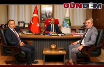 Oğuzhan ve Şirin'den Başkan Alan'a ziyaret