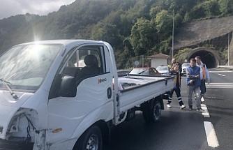 Tünel çıkışında kaza: 1 yaralı
