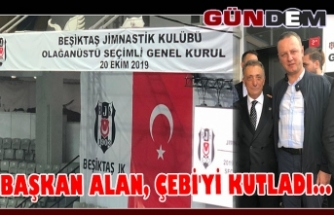 Başkan Alan, Çebi'yi kutladı