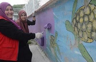 Gönüllü eller minikler için boyadı
