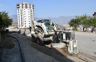 Karabük'te belediye  çalışmaları sürüyor