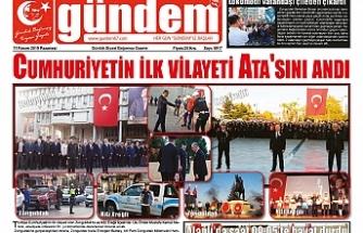 11 KASIM 2019 PAZARTESİ GÜNDEM GAZETESİ