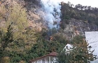 Bartın'da orman yangını köyü tehdit ediyor