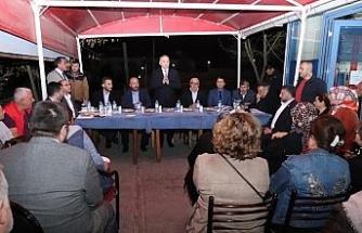 Başkan Özlü Bahçeşehir halkı ile bir araya geldi