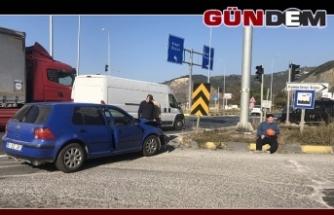 Ereğli OSB kavşağında kaza: 2 yaralı