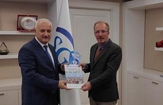 Rektör Uzun, SGK Başkan Yardımcısı Aydın'ı ziyaret etti