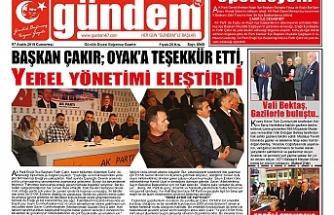 07 ARALIK 2019 CUMARTESİ GÜNDEM GAZETESİ