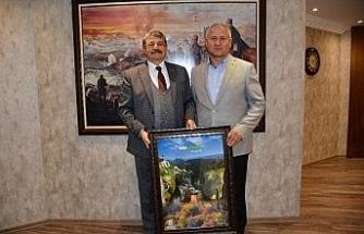 Başkan Çaylı Bartın Belediye Başkanı Akın'ı ziyaret etti