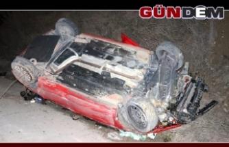 Emanet aldığı otomobille kaza yapan sürücü yaralandı