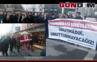 Zonguldak'ta demokrasi şehitleri anıldı...