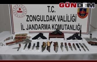 Alaplı'da silah kaçakçılığı operasyonu
