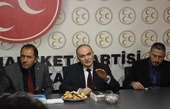 Başkan Özlü'den MHP'ye hayırlı olsun ziyareti