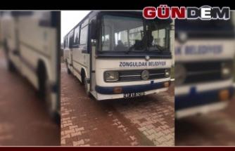 Zonguldakspor antrenmana 1960 model otobüsle gitti