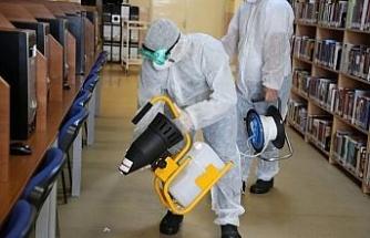 Bartın Üniversitesi'nde dezenfekte çalışmaları devam ediyor