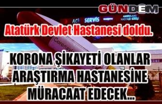 Atatürk Devlet Hastanesi doldu....