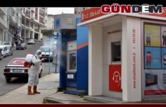 ATM'LER DÜZENLİ OLARAK DEZENFEKTE EDİLİYOR