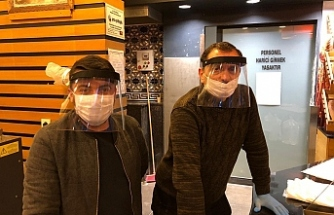 Yüz koruyucu maske üretimi başladı