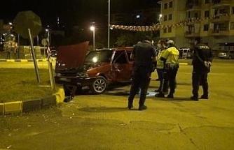 3 kişinin yaralandığı trafik kazası güvenlik kamerasında
