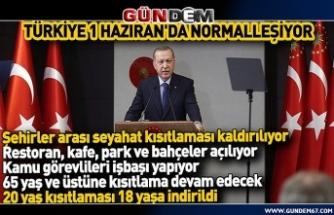 Cumhurbaşkanı Erdoğan: 1 Haziran itibariyla şehirlerarası ulaşım kısıtlaması kaldırılıyor