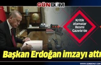 Cumhurbaşkanı erdoğan'ın imzası ile yayımlandı... Atama kararları Resmi Gazete'de