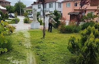 Düzce Belediyesi yabani ot temizliğine başladı