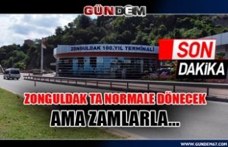 Zonguldak ta Normale dönecek ama zamlarla...