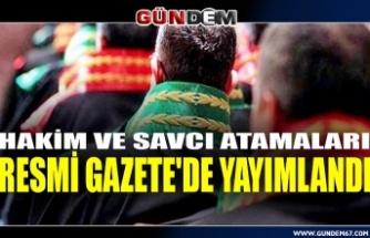 Hakim ve Savcıların ataması yapıldı: Kararname Resmi Gazete'de
