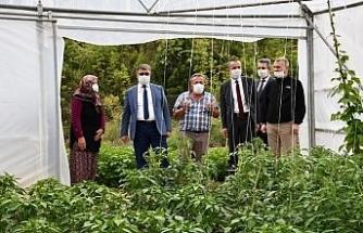 Vali Gürel'den çiftçilere ziyaret