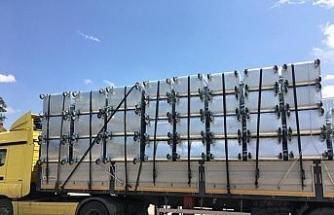 Yeni çöp konteynerları ilçe geneline dağıtıldı