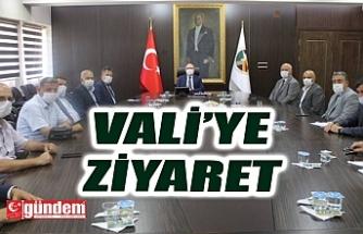 DERNEKLER FEDERASYONUNDAN VALİ TUTULMAZ'A ZİYARET