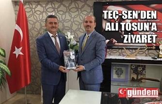 TEÇ-SEN'DEN ALİ TOSUN'A ZİYARET
