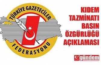 TÜRKİYE GAZETECİLER FEDERASYONU'NDAN AÇIKLAMA