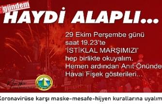 """ALAPLI BELEDİYESİNDEN ÇAĞRI! """"HEP BİRLİKTE İSTİKLAL MARŞIMIZI OKUYALIM"""""""
