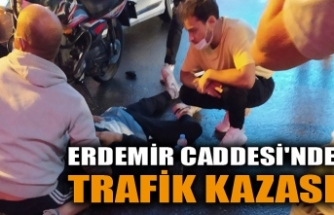 ERDEMİR CADDESİ'NDE TRAFİK KAZASI