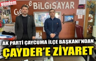 AK PARTİ ÇAYCUMA İLÇE BAŞKANI'NDAN ÇAYCUMALILAR DERNEĞİ'NE ZİYARET