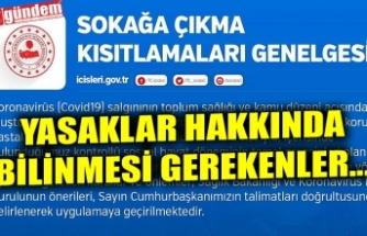 YASAKLAR HAKKINDA BİLİNMESİ GEREKENLER...