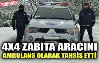 4X4 ZABITA ARACINI AMBULANS OLARAK TAHSİS ETTİ
