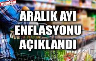 ARALIK AYI ENFLASYONU AÇIKLANDI