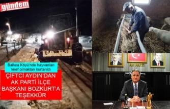 ÇİFTÇİ ALİ AYDIN'DAN BAŞKAN BOZKURT'A TEŞEKÜR